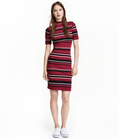 2f6fbf24de H M Ribbed Jersey Dress  24.99