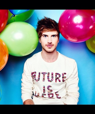 sweater joey graceffa grunge top future floral shirt bright cute sweaters urban outfitters white sweater