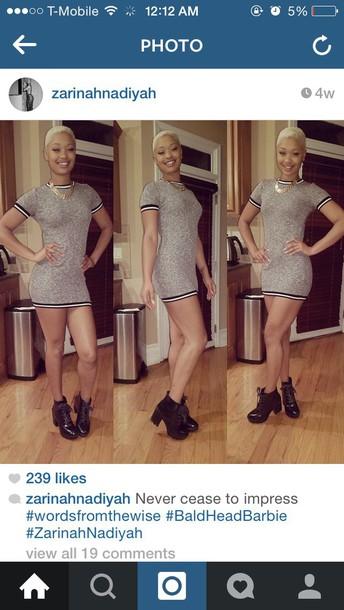 dress sexy varsity varsity dress sweater dress stripes grey