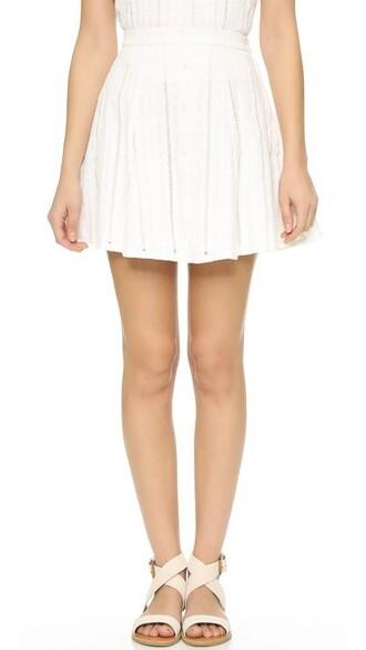 miniskirt white skirt