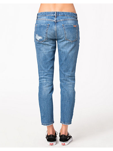 Straight Crop Florence Denim - River Island - Denim Blå - Jeans - Kläder - Kvinna - Nelly.com