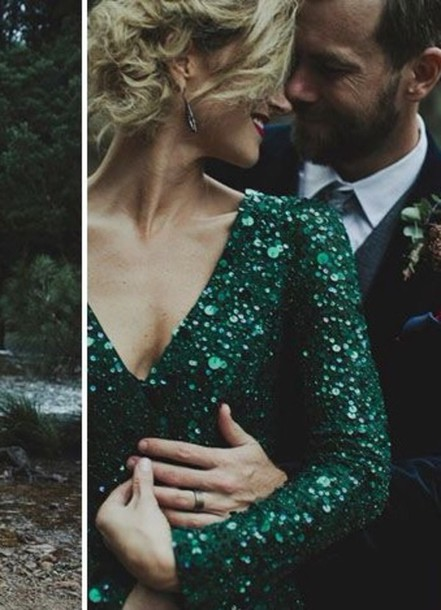 dress sequin dress emerald dress