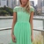 Green Party Dress - Green Embroidered Lace Top Dress   UsTrendy