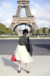keiko lynn,jacket,skirt,belt,bag,clothes
