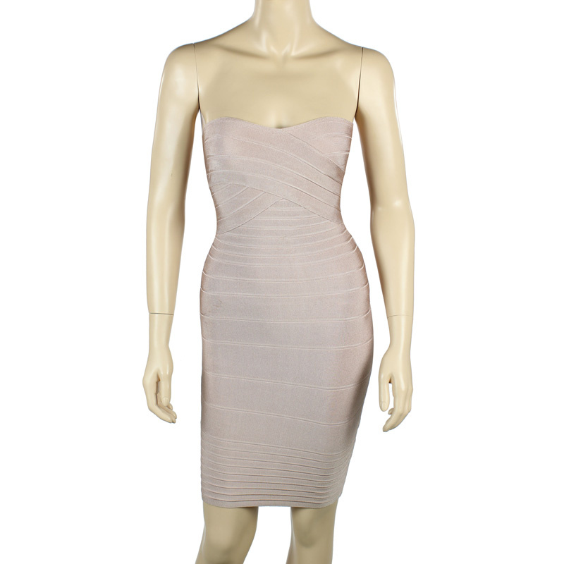 Herve Leger Nude Sweetheart Strapless Bandage Dress [Herve Leger Nude Dress] - $148.00 : cheap herve leger, 2013 bandage dress
