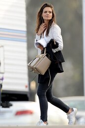 shoes,sneakers,katie holmes,jeans