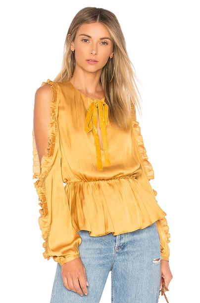 TULAROSA blouse mustard top