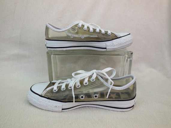 ba8d0b4501af Vintage CONVERSE Shoes All Star Sneakers Clear Plastic Converse ...
