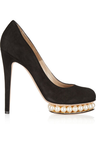 suede pumps embellished pumps suede black shoes