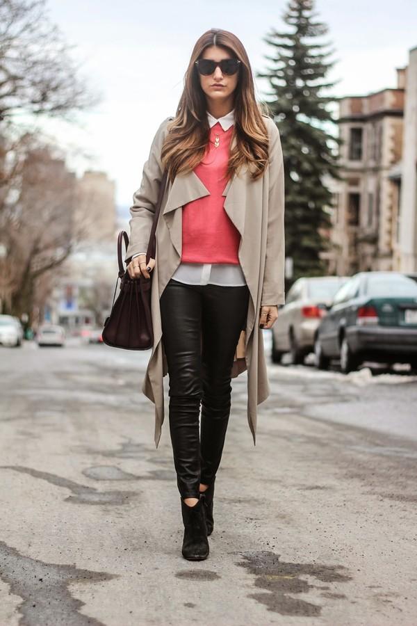 the boho flow sweater blouse coat jewels sunglasses pants shoes bag