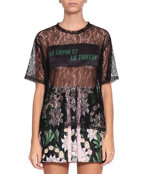 AU JOUR LE JOUR t-shirt shirt t-shirt lace top
