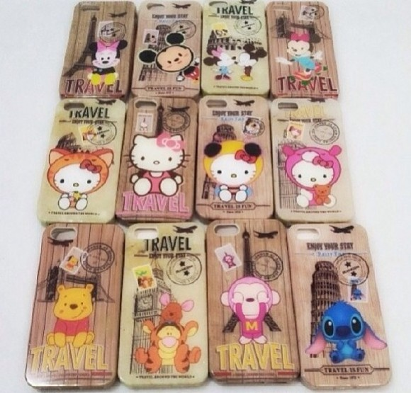 disney bag stitch minnie and mickey winnie the pooh iphone 5s case hello kitty