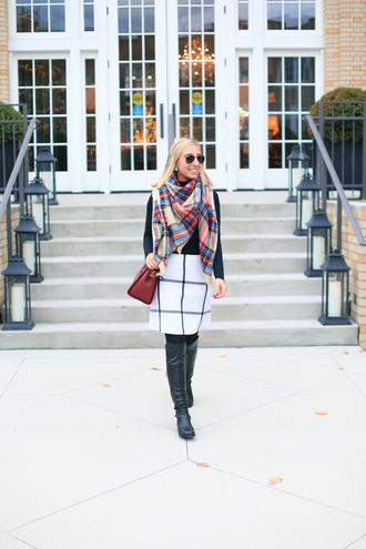 lemon stripes blogger scarf skirt shoes bag