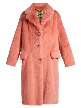 coat fur coat fur pink