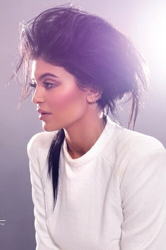 top jacket white kylie jenner editorial