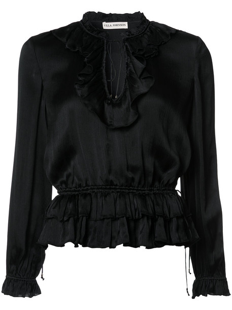 Ulla Johnson blouse women black silk top