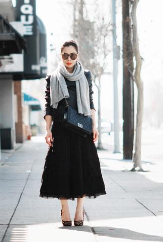 hallie daily skirt dress jacket scarf bag sunglasses shoes