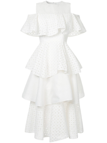 Huishan Zhang dress women cold white cotton silk