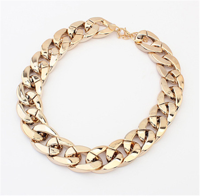 Wholesale Items New 2013 Vintage Jewelry Women Fashion Big Chunky Necklaces PVC Gold Chain Necklace-in Chain Necklaces from Jewelry on Aliexpress.com