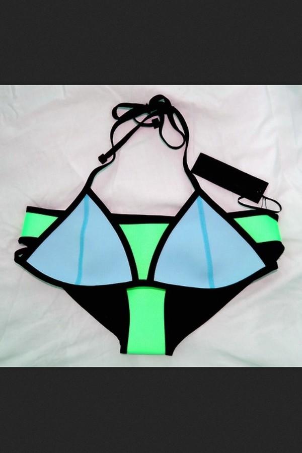 swimwear tumblr bathing suit neon