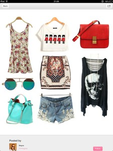 skirt dress sunglasses bag crop tops crop top tshirt shorts denim skull red blue shirt t-shirt