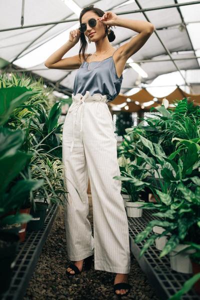 Margate Pinstripe Wide Leg Pants