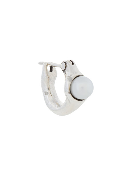 E.M. women pearl silver white grey metallic jewels