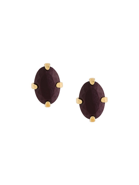 Wouters & Hendrix women earrings stud earrings gold silver purple pink red jewels