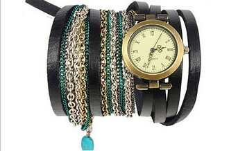 jewels ebonylace ebonylacefashion leatehr leather watch wrap jewelry elephantsgarden