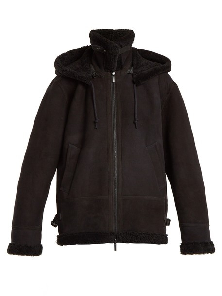 Raey jacket shearling jacket black