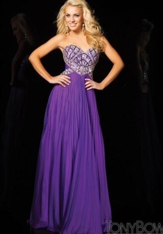 dress purple dress sparkly dress floor length dress