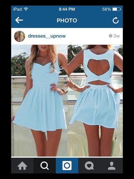dress light blue cut-out dress