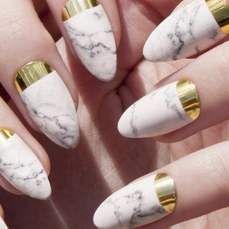 nail polish nails gold nails white nails metallic nails
