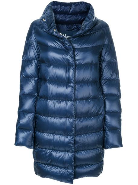 Herno coat metallic women cotton blue