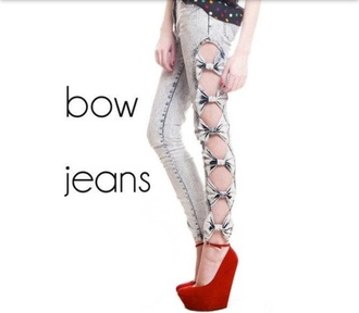 jeans bow