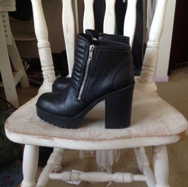 black leather boots h&m primark zara boots chelsea boots biker boots