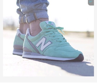 shoes green new balance sneakers