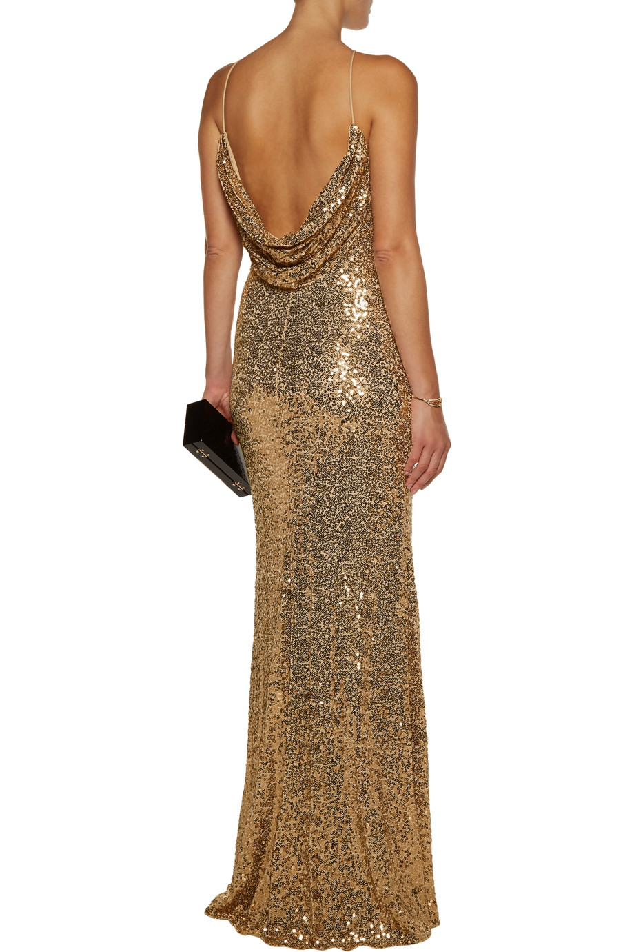 Draped sequined tulle gown | Badgley Mischka | US | THE OUTNET