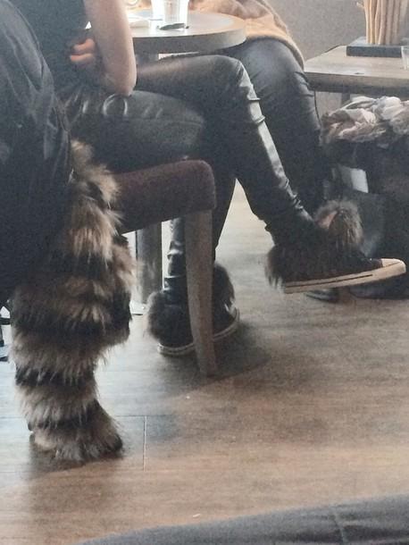 shoes sneaker fur