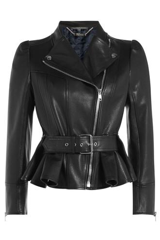 jacket biker jacket leather black