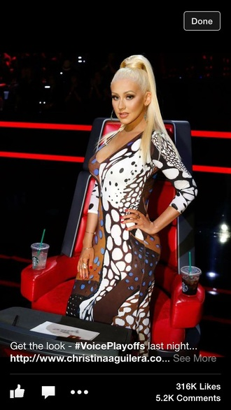 dress roberto cavalli christina aguilera inspired printed dress
