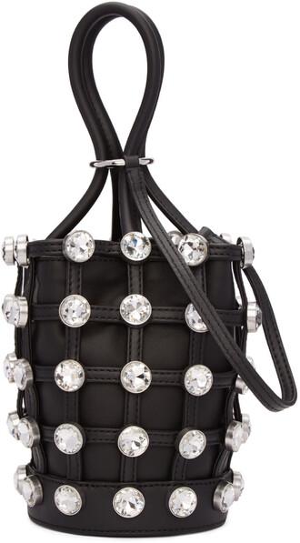 mini bag bucket bag black
