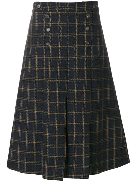 Mulberry skirt women blue wool