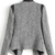Grey Contrast PU Leather Trims Tweed Crop Blazer - Sheinside.com