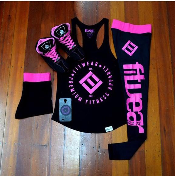 sneakers fitness black sportswear