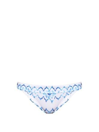 bikini white blue swimwear