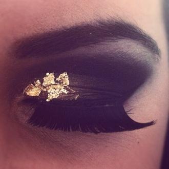make-up eye shadow sparkle smokey eyes beautifull