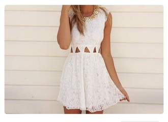 dress white white dress lace dress