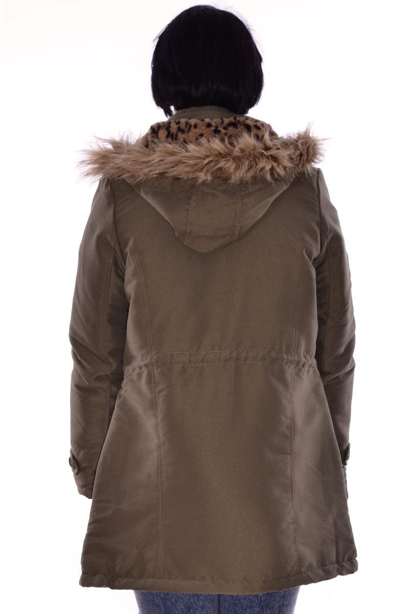 Fadwa Front pocket hooded Parker jacket
