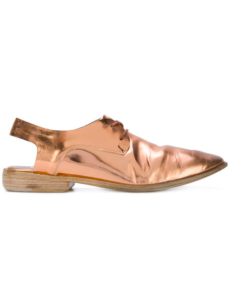 Marsèll back women shoes leather grey metallic